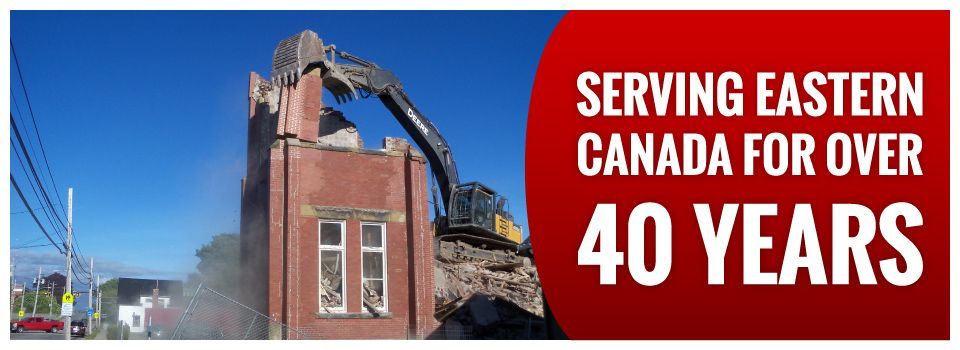 Serving Eastern Canada for Over 40 Years | Tearing down corner of building