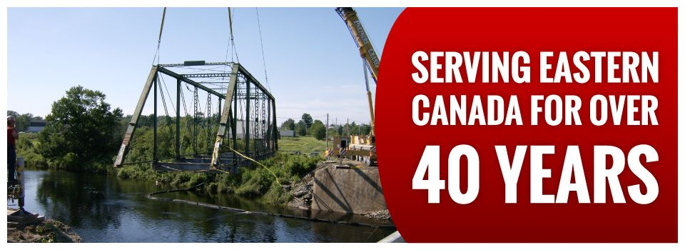 Serving Eastern Canada for Over 40 Years | Suspended bridge