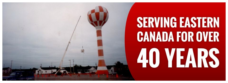 Serving Eastern Canada for Over 40 Years | Water tower demolition