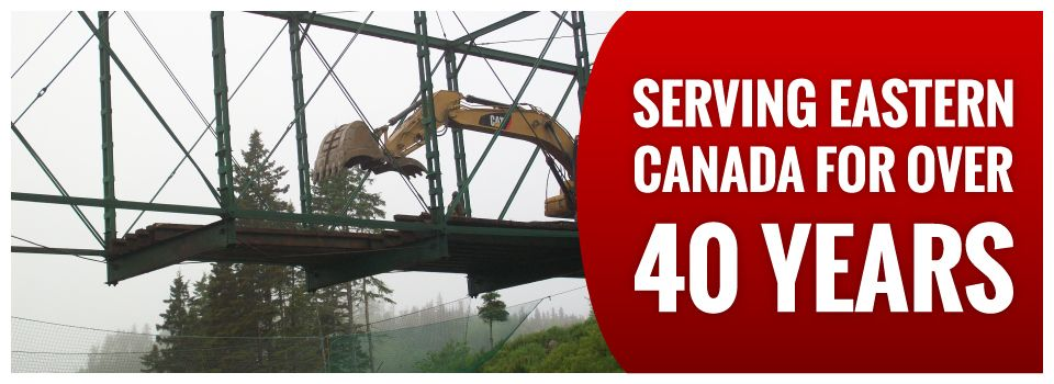 Serving Eastern Canada for Over 40 Years | Bridge demolition
