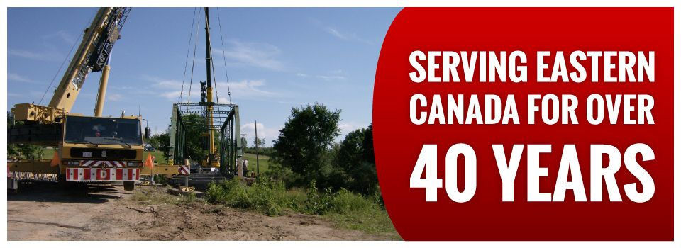 Serving Eastern Canada for Over 40 Years | Bridge installation
