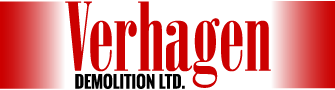 Verhagen demolition ltd logo